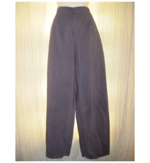 Jeanne Engelhart FLAX Purple Textured Cotton Floods Pants Medium M