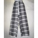 SOLITAIRE Boutique Plaid LINEN Wide Leg Floods Pants X-large XL