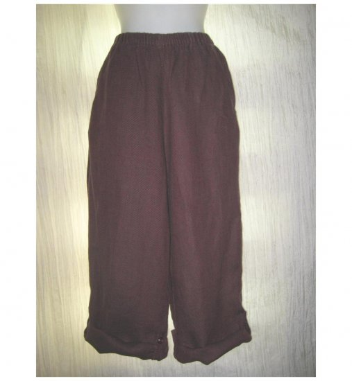 FLAX by Jeanne Engelhart Linen FLIPPED UP FLOODS Pants Small S