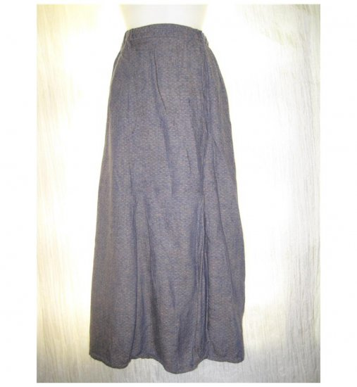 FLAX Purple Textured Bubble Skirt Jeanne Engelhart Medium M
