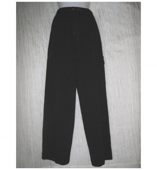 ST. JOHN Sport by Marie Gray Black Santana Knit Drawstring Pants Small S