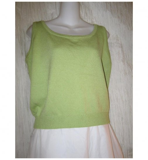 ST. JOHN Collection by Marie Gray Green Knit Tank Top Medium M