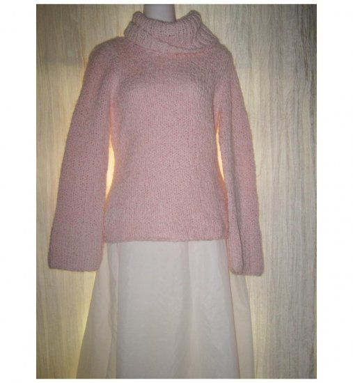 BCBG Max Azaria Cozy Pink Turtleneck Sweater Top Medium M