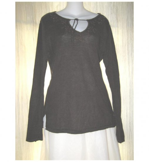 GAP Brown Linen Knit Pullover Sweater Tunic Top Large L