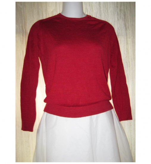 August Silk Soft Red Knit Pullover Sweater Top Small S