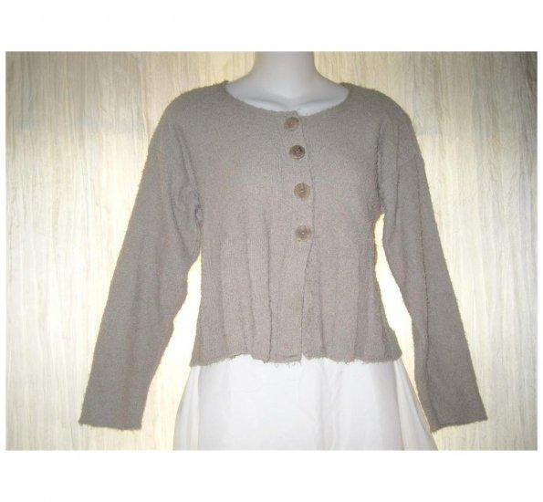 FLAX by Angelheart Jeanne Engelhart Cropped Cardigan Sweater S M
