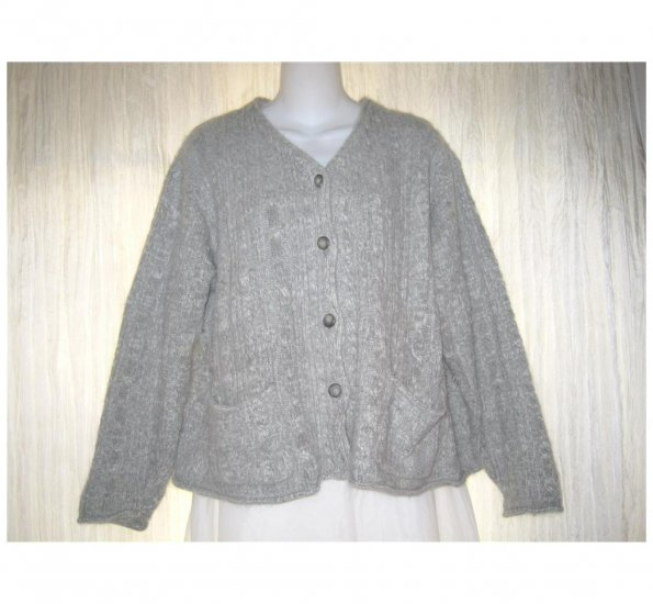 American Eagle Outfitters Soft Gray Angora Cardigan Sweater Medium M