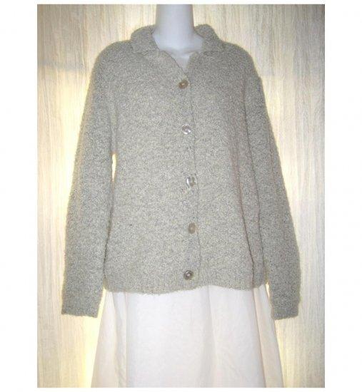 Carolyn Taylor Essentials Soft Gray Nubby Cardigan Sweater Medium M