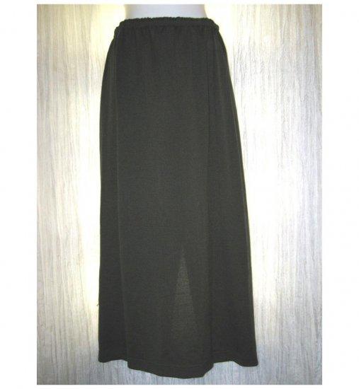 Monika Turtle Studio Long Boutique Green Knit Skirt Medium M