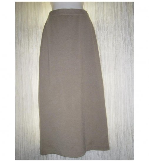 EILEEN FISHER Long Camel Merino Wool Knit Skirt Small S