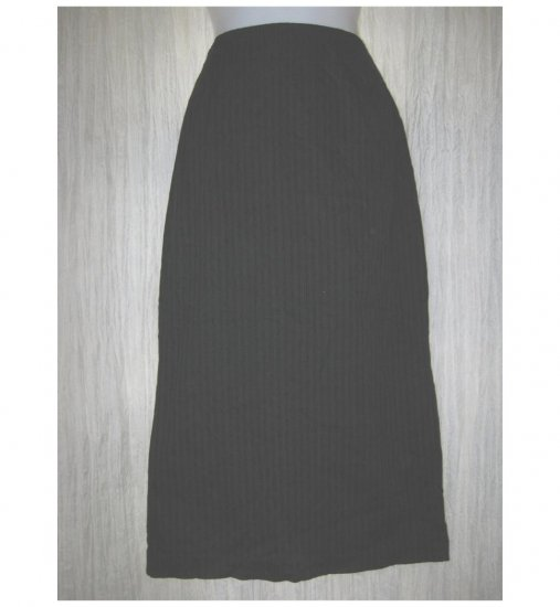 PATINA Boutique Long Shapely Black Textured Skirt Medium M
