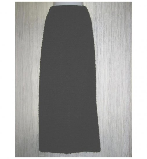 MONIKA TURTLE Long Black Nubby Sweater Knit SKIRT Small S