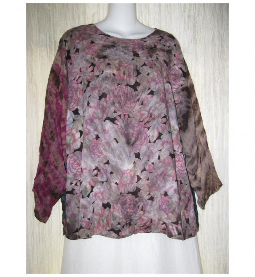 URU Hand Dyed Nothing Matches Art to Wear Tunic Top Shirt OS
