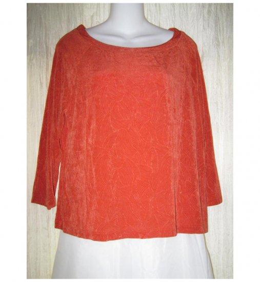 Coldwater Creek Slinky Orange Tunic Top Shirt Large L