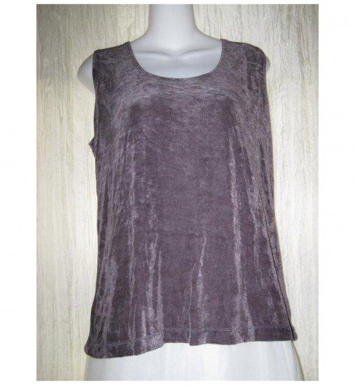 New Weekenders Slinky Purple Tunic Tank Top Shirt Large L G