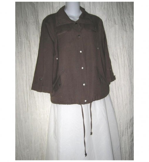 Christopher & Banks Soft Brown Linen Rayon Jacket Small S