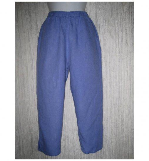 Jeanne Engelhart FLAX Blue LINEN Pedal Pushers Pants Petite P