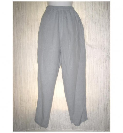 J. Jill Long Blue Gray Linen Pants Medium M