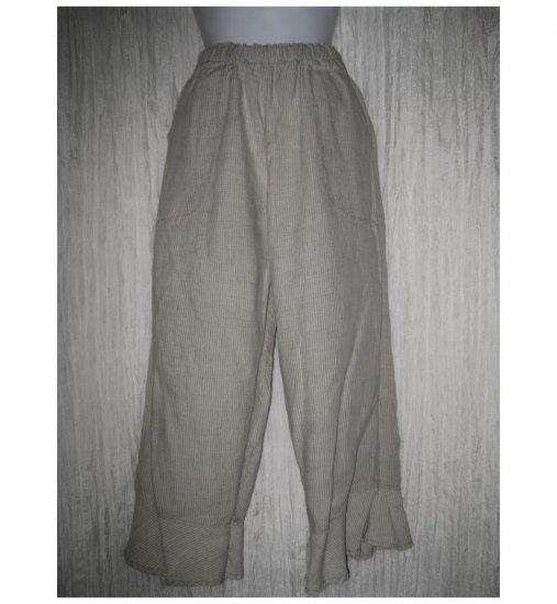 Jeanne Engelhart FLAX Striped Linen Bedskirt Bloomers Flood Pants Petite P