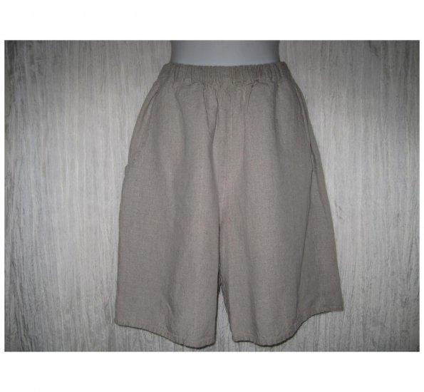 Jeanne Engelhart FLAX Natural LINEN Shorts Small S