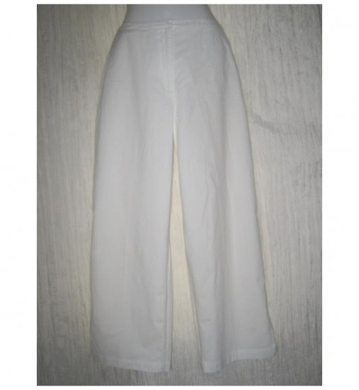 EILEEN FISHER White Shapely Cotton Pants Small S
