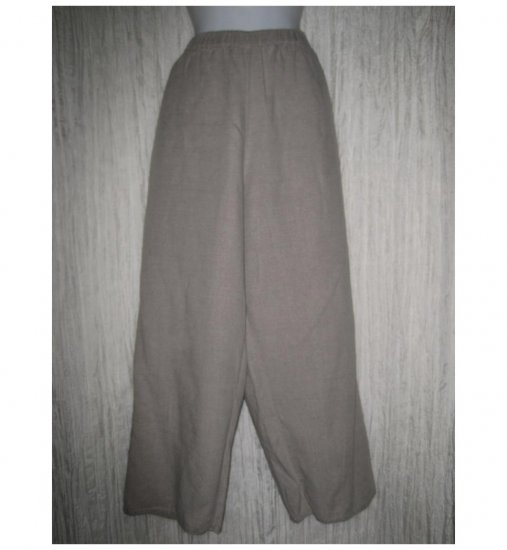Jeanne Engelhart FLAX Natural Linen Flood Pants Large L