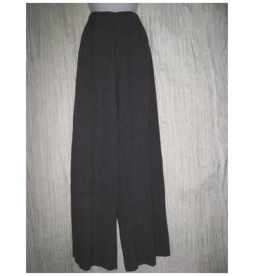 Jeanne Engelhart FLAX Textured Purple Linen Blend Flood Pants Large L