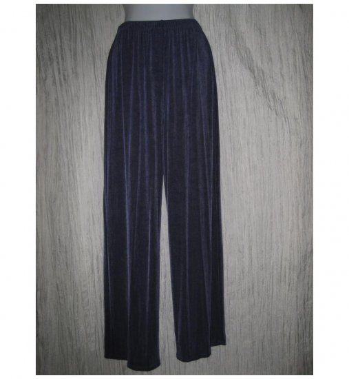 Citiknits Long Loose Slinky Blue Knit Pants Medium M