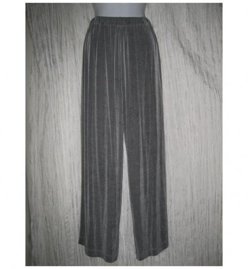 Jeanne Engelhart FLAX Long Loose Slinky Gray Knit Pants Small S