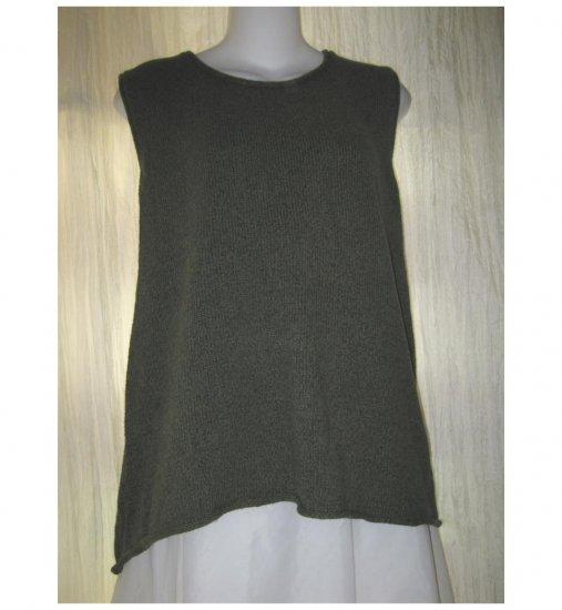 Jeanne Engelhart FLAX Green Sweater Tank Generous G