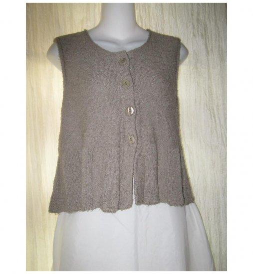 FLAX by Angelheart Button Sweater Vest Jeanne Engelhart Small Medium S M