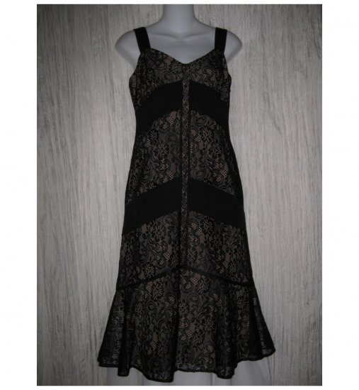 Ann Taylor LOFT Elegant Shapely Black Lace Shift Dress 2 XS