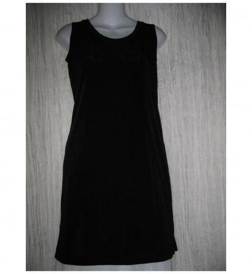 FLAX by Jeanne Engelhart Slinky Black Knit Tank Dress Petite P