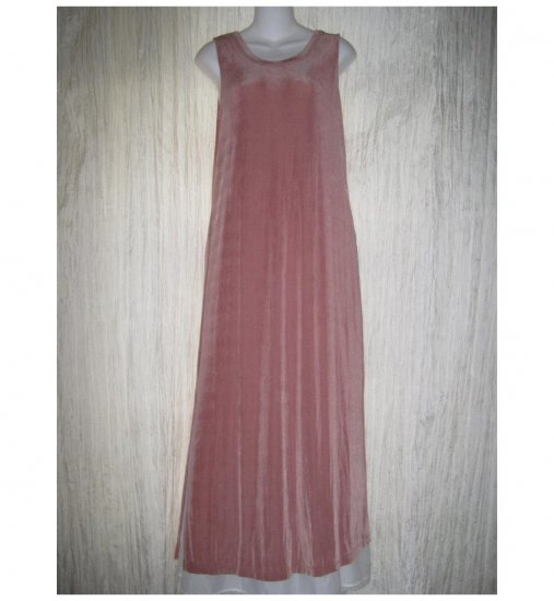 Jeanne Engelhart FLAX Slinky Pink Knit Slip Dress Small S