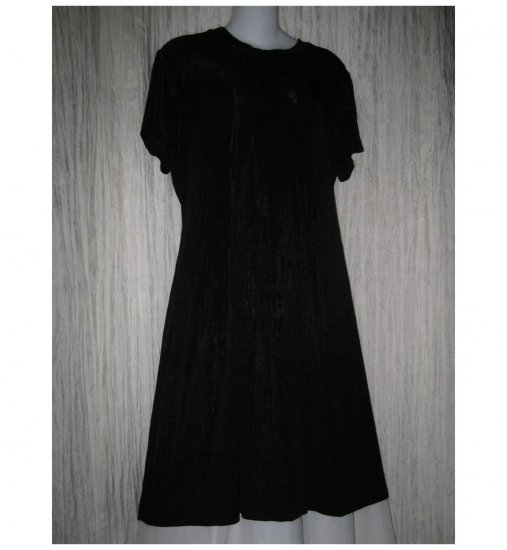 Citiknits Slinky Black Acetate Knit Travelers Dress Size 18