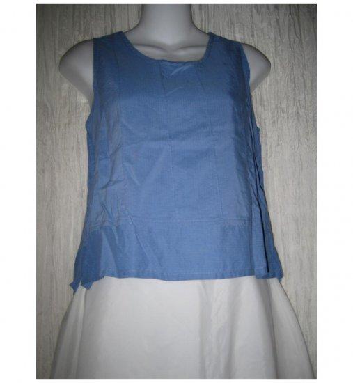 Jeanne Engelhart FLAX Blue Cotton Rayon Tank Top Shirt Petite P
