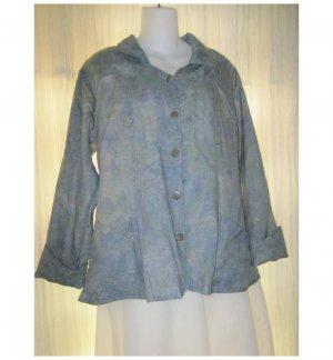 Jeanne Engelhart FLAX Watercolor Linen Button Shirt Jacket Small S