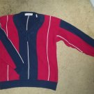 Red and Navy JOHN ASHFORD Heavyweight Sweater Mens LARGE