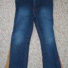 ZANA-DI Stretch Denim Jeans with Suede Side Panel Girls Size 6