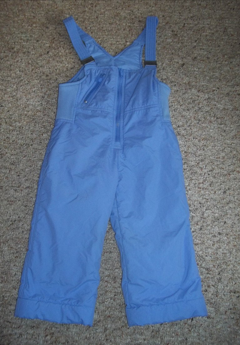 THE RUGGED BEAR Purple Overalls Ski Snow Pants Girls Size 3