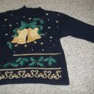 PANTHER Black Embellished Ugly Christmas Sweater Ladies Size 12-14 LARGE