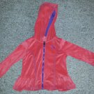 PUMA Orange with Purple Trim Zip Front Hooded Velour Jacket Girls Size 3T
