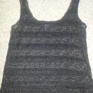 FOREVER 21 Semi Sheer Black Lacy Stretchy Tank Top Ladies Small