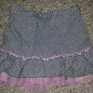 KIDS HEADQUARTERS Black Checked with Pink Tulle Skort Girls Size 5