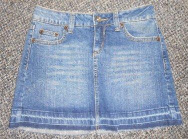 Stretch Denim Mini Skirt Juniors Size 1