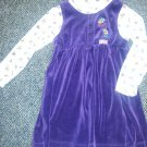 RUDOLPH Purple Velour Rudolph Themed Layered Look Dress Girls Size 6