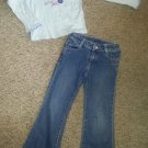 CARTER'S Blue Scooter Top FADED GLORY Embellished Denim Jeans Girls Size 6
