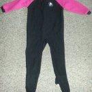 GERBER Black and Pink Puppy Fleece Blanket Sleeper Girls Size 3T