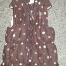 US POLO ASSN Brown Polka Dot Corduroy Quilted Vest Girls Size 3T