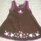 BLUEBERI BOULEVARD Brown Corduroy Jumper Dress Girls Size 24 months